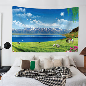 Meadow Mountains Tapestry