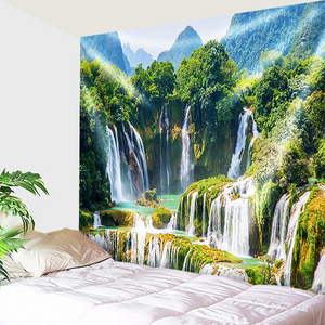 Mountains and Waterfalls Tapestry
