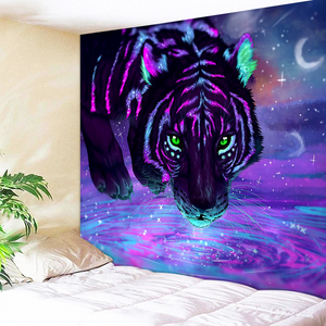 Astral Tiger Ready To Hunt Tapestry