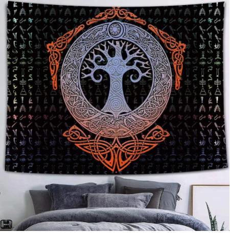 Psychedelic Tree Tapestry
