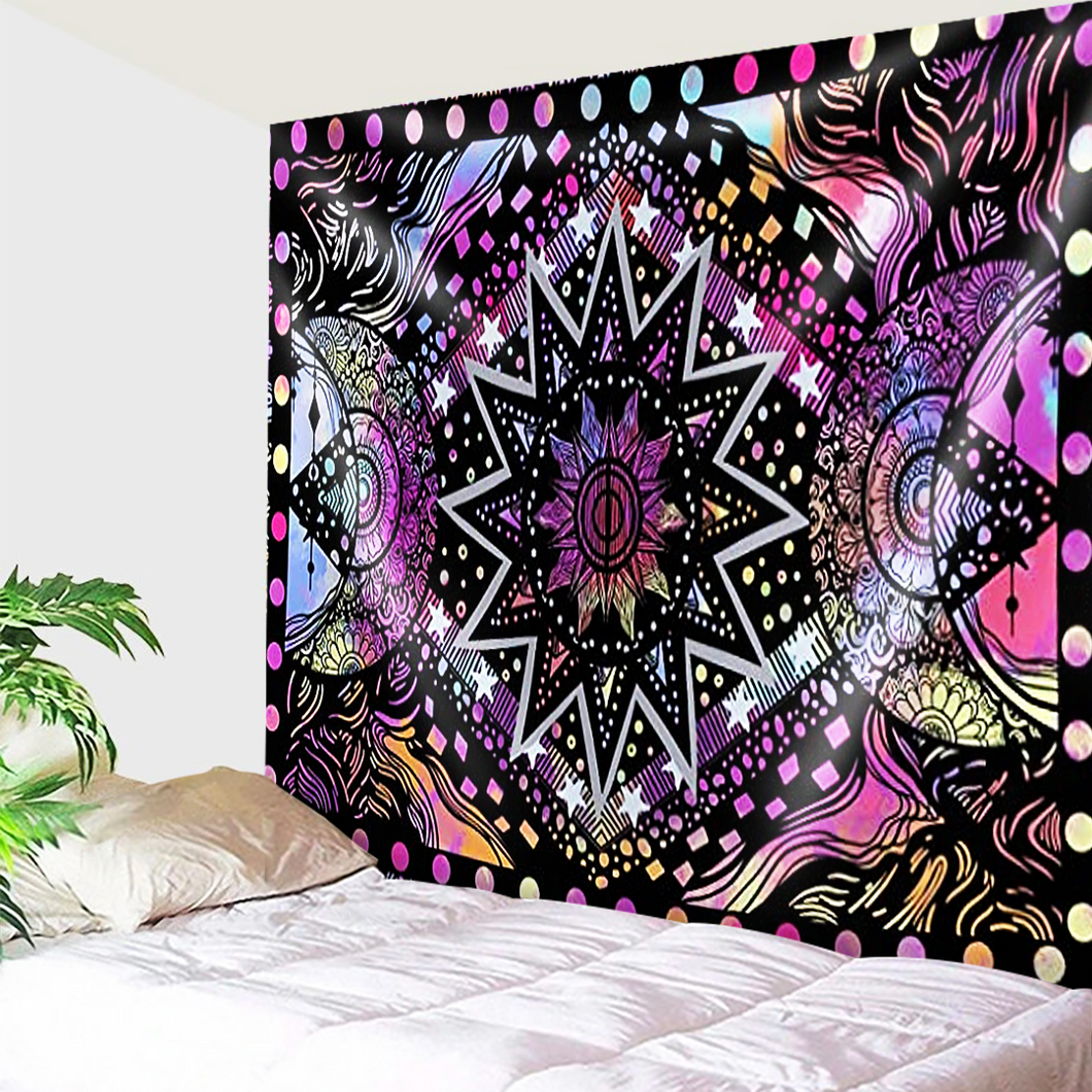 Shade Of Purple and Pink Mandala Tapestry