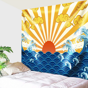Sun Rays And Waves Tapestry