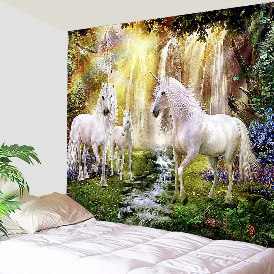 Unicorn Meadows Tapestry