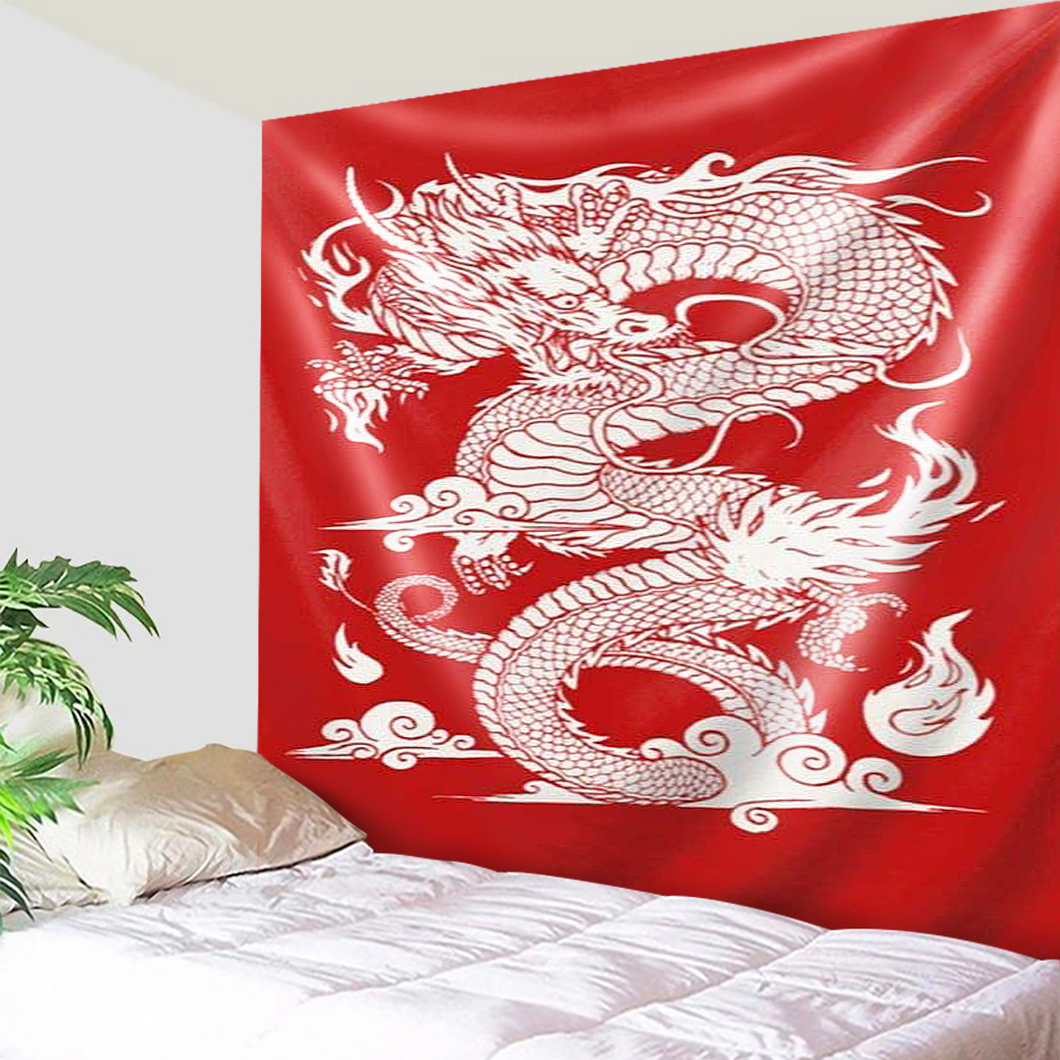 The Red Chinese Dragon Tapestry