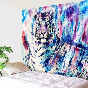 Tiger On Color Splash Tapestry