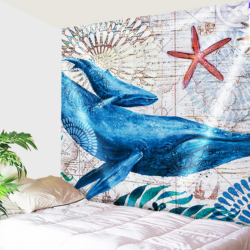 Whales Travels Tapestry