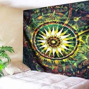 Mother Nature's Mandala Tapestry