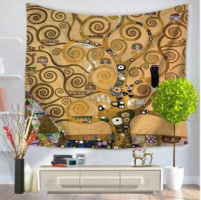 Trippy Brown Tails Tapestry