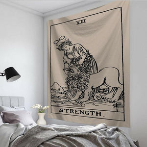 The Strength Tarot Card Tapestry