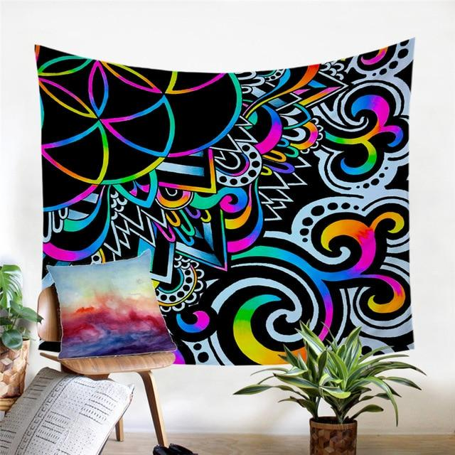 Psychedelic Doodle Magic Tapestry
