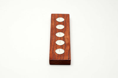 Tealight Candle Holder - 5 Candle Runner