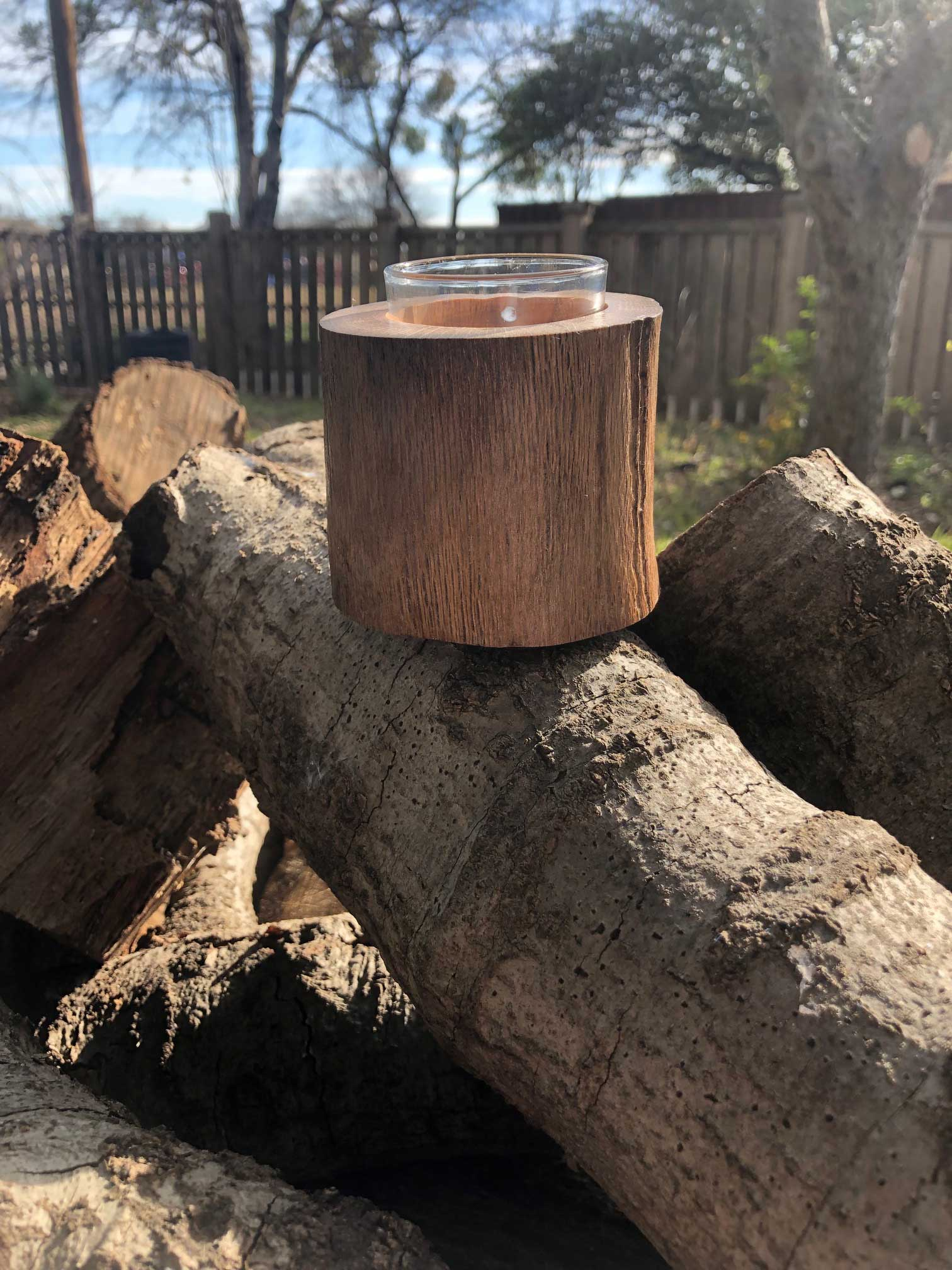 Rustic Candle Holder - Votive