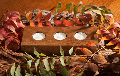 Cedar Tealights Candle Holder