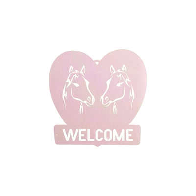 Horse Welcome Metal Sign