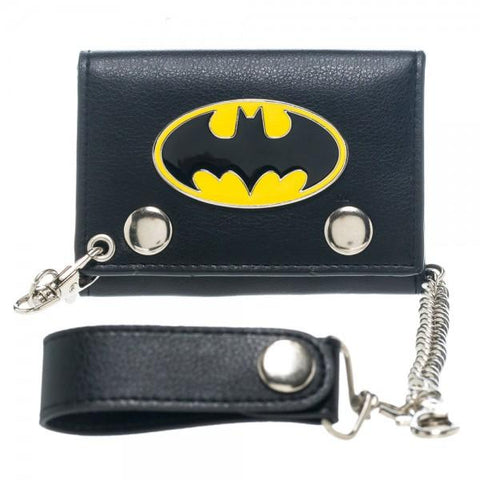 Batman Metal Badge Chain Wallet - Cupid's Corner