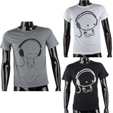 JECKSION 2016 Fashion Men Boy High Quality Camisetas Tees Short Sleeve O-Neck Earphone T Shirt Men Clothes Camisa Masculina #LYW - Cupid's Corner