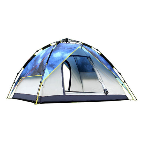 DESERTCAMEL CS070-6 Three-used Automatic Tent Portable Rainproof Ultraviolet-proof Printing Tent Double Layers Outdoor Tent - Cupid's Corner