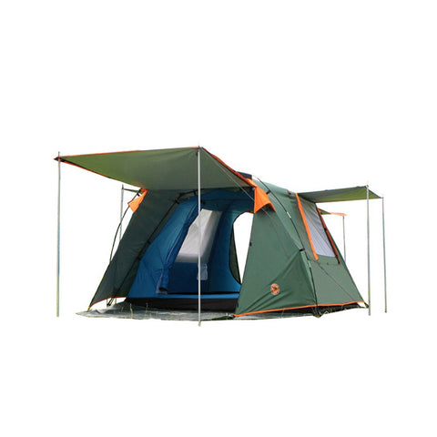 DESERTCAMEL CS088 Fully Automatic Double Layers Tent Dual Doors Square Roof Tent With Breathable Mosquito Net For 4 Persons - Cupid's Corner