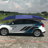 Half Automatic Awning Tent Car Cover Outdoor Waterproof Folded Portable Car Canopy Cover Anti-UV Sun Shelter Car Roof Tent - Cupid's Corner