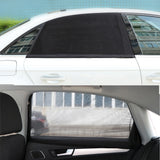 Onever Auto Car Side Window Sun Shade Black Mesh Solar Protection Covers Visor Shield Sunshade UV Protection size L M - Cupid's Corner