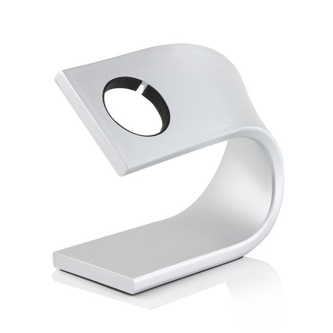 Apple Watch Stand Cradle U Shaped iWatch Charging Dock Station Sturdy Watch Platform Holder (Silver) - Cupid's Corner