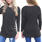 Women Long Sleeve Spring Shirt Solid Plus Size Blouse Tops 2018 Loose Tunic Tops - Cupid's Corner