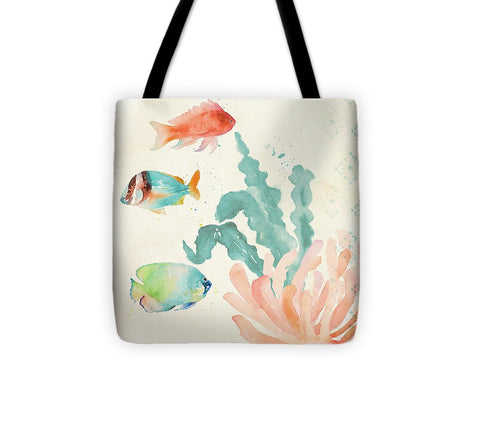 Tropical Teal Coral Medley I Tote Bag - Cupid's Corner