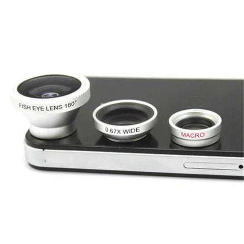 3-Piece Camera Lens Attachment Set For iPhone or Android - Cupid's Corner