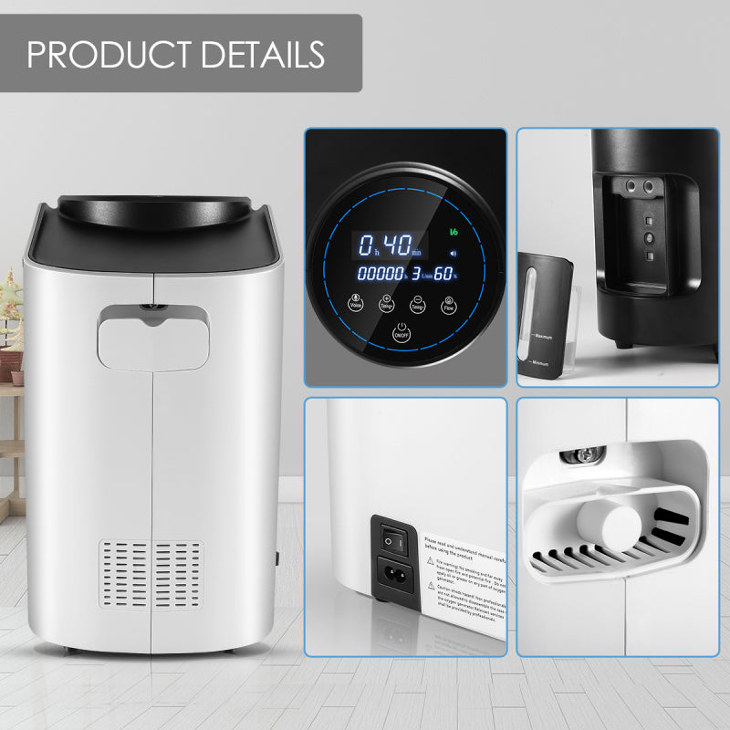 Portable Oxygen Concentrator Oxygen Making Machine Without Battery Air Purifier