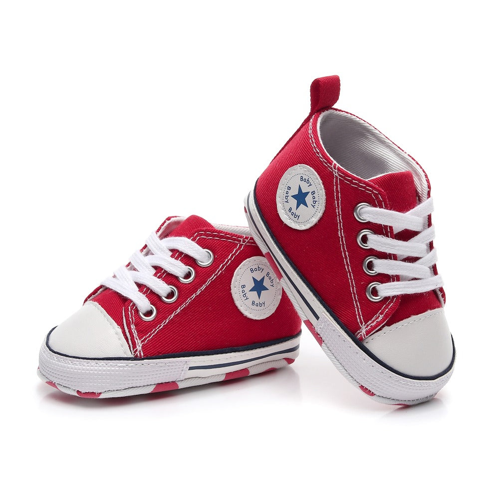4116ade238d18f Baby Converse Style Shoes - High Top Sneakers for Baby – solebaby