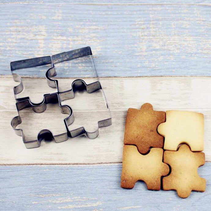 Complete The Puzzle Stainless Steel Cookie Cutter 4pc Set