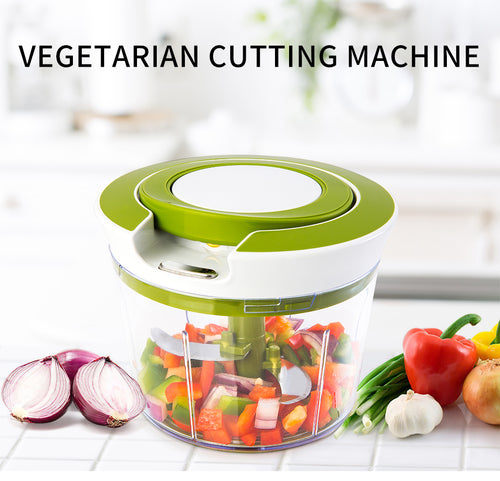 Pull String Food Chopper/Spiralizer/Slicer/Mixer/Blender