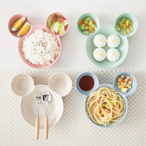 Children's Round Dinner Plate Food Separator