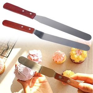 "6"" and 8"" Icing Spatula - Straight/Offset"
