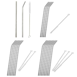 2/4/6/8pcs Reusable Stainless Steel Drinking Straws
