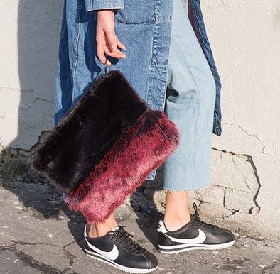 Faux Mink Clutch