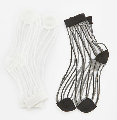 Striped Sheer Socks