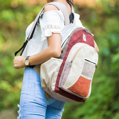 Handmade Beautiful Design Hemp Backpack & Cotton Bags