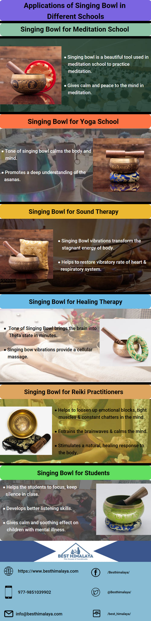 Singing Bowl Applications for Different Schools & Classrooms