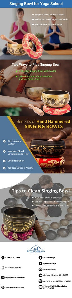 singing bowl for meditation and yoga