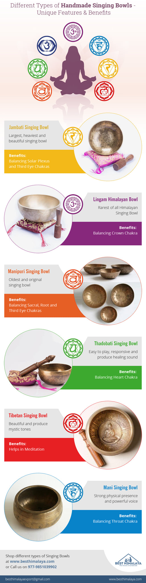 Different Types of Handmade Singing Bowls - Features and Benefits