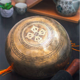 Goddess Carved Antique Finish Mantra Healing Bajra Fire Yoga Meditation Singing Bowl