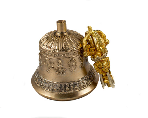 Buddha craft Tibetan handmade bell and dorje set
