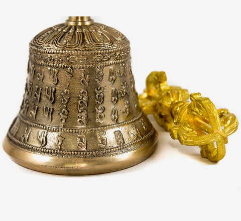 Tibetan Buddhist mantra Bell and Dorje set