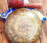 Buddha Eye Lotus Flower Yoga Meditation Feng Shui Antique Singing Bowl