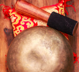 Large Antique Local Tibetan Old Seven Metal Chakra Balancing Singing Bowl