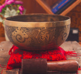 Buy Exceptional Sound Fine Finish Antique High Qulity Thado Bati Large Singing Bowl Online