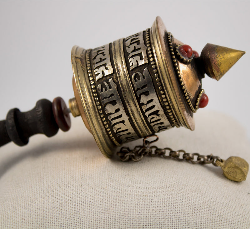 Tibetan Om Mani Small Prayer Wheel