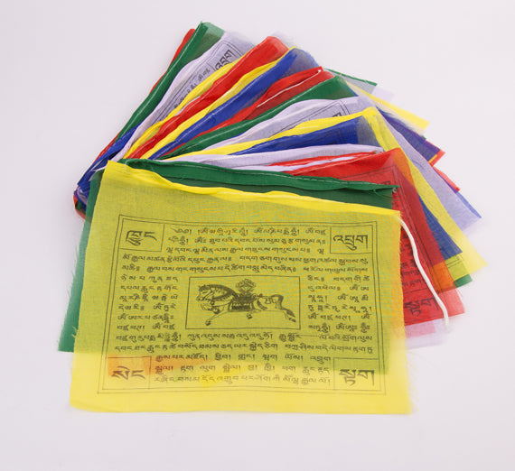 Lungta Tibetan High Quality polyster Prayer Flag set
