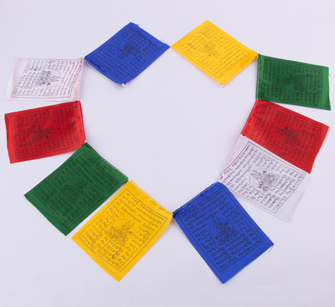 Single String Tibetan Mantra Prayer Flag set